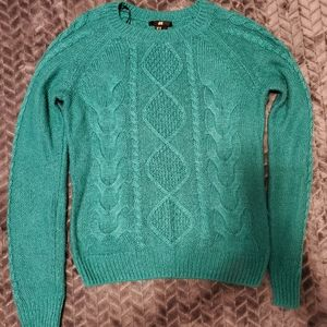 Turquoise sweater in size xs